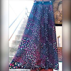 Floral Sheer Maxi Skirt Rue 21 XL